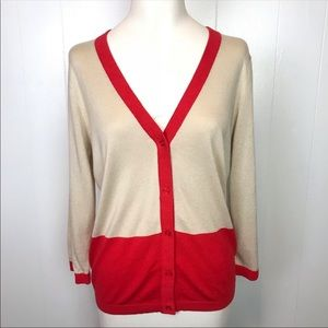 KATE SPADE Color Block Cardigan Sweater EUC